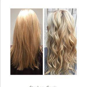 Klix hair extensions blonde